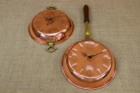 Copper Wall Clock Frying Pan with Handles Fifth Depiction