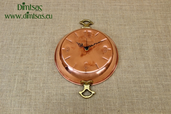 Copper Wall Clock Frying Pan with Handles
