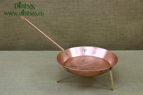Brass Chestnut Pan with Legs