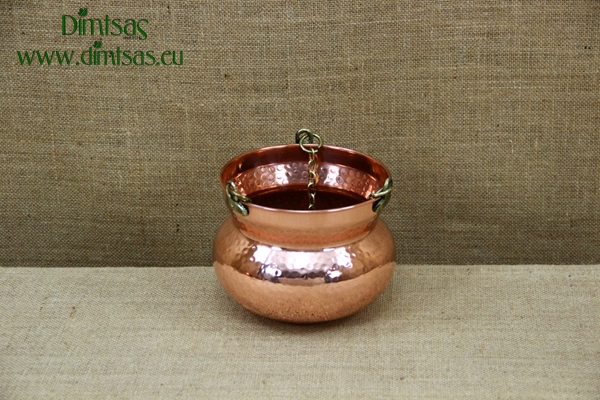 Copper Hanging Planter No1