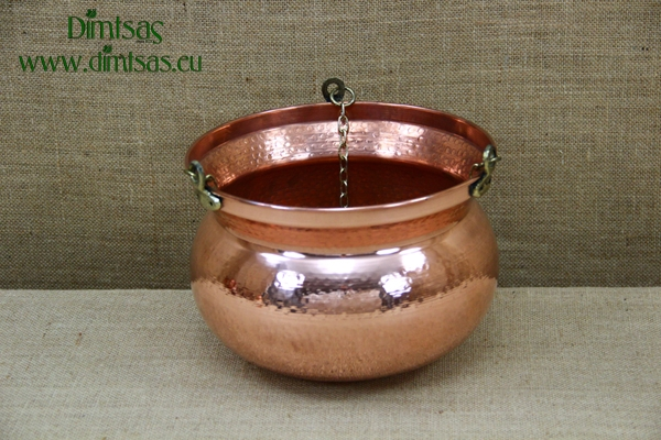 Copper Hanging Planter No2