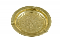 Brass Ashtray Engraved Fourth Depiction