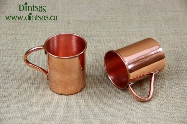 Copper Glass Straight with Handle 400 ml