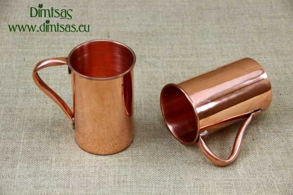 Copper Glass Straight with Handle 480 ml