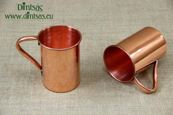 Copper Glass Straight with Handle 600 ml