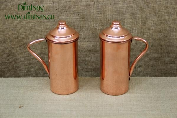 Copper Jug with Handle & Lid 1 Liter