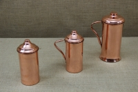 Copper Jug with Handle & Lid 2 Liters Fifth Depiction