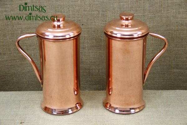 Copper Jug with Handle & Lid 2 Liters