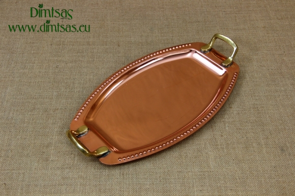 Copper Serving Tray Oval with Handles No2