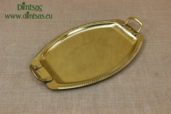 Brass Serving Tray Oval with Handles No2