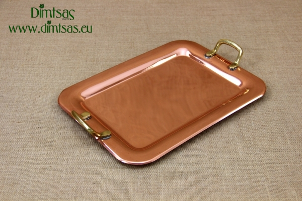 Copper Serving Tray Rectangle with Handles No2