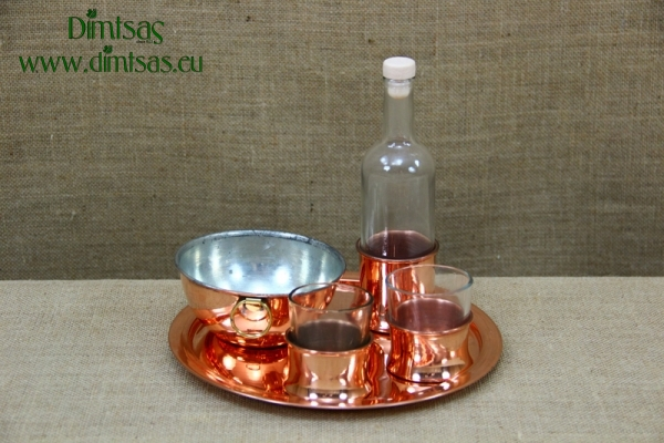 Copper Tray for Ouzo No24