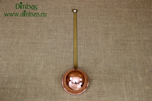 Copper Decorative Slotted Spoon