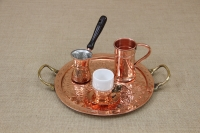 Copper Serving Tray Round Engraved with Handles No26 Fourth Depiction