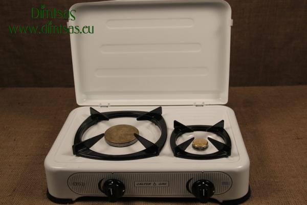Συσκευή Υγραερίου CF Εμαγέ 1 1/2 Εστιών Λευκή