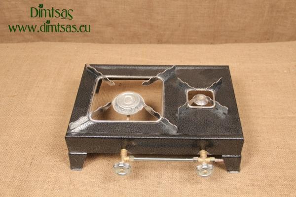 Συσκευή Υγραερίου Φλόγιστρο Σφυρήλατο 1 1/2 Εστιών Γκρι