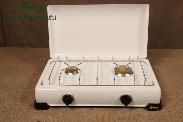 Συσκευή Υγραερίου Ardes Εμαγέ 2 Μεγάλων Εστιών Λευκή
