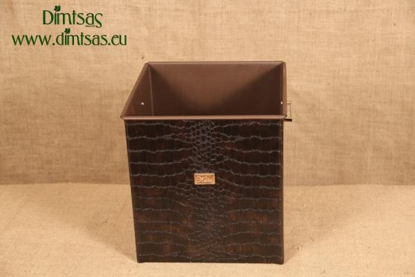 Ξυλοθήκη Τετράγωνη Δερματίνη Κροκό Καφέ