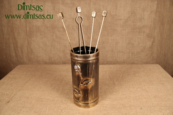 Αξεσουάρ Τζακιού - Κύλινδρος Μικρός Φύλλα Χρυσός