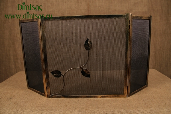 Προστατευτικό Τζακιού - Λάμα Ίσια Φύλλα Χρυσή
