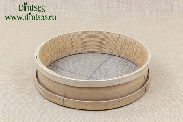 Sieve for Frumenty Wooden 37 cm with Holes 3x2 mm