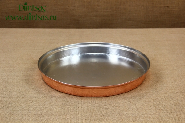 Copper Round Shallow Baking Pan No40