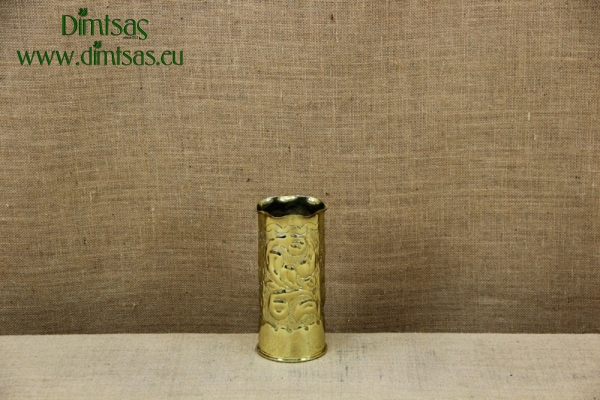 Trench Art Brass Shell Casing Engraved Leaves Size No1