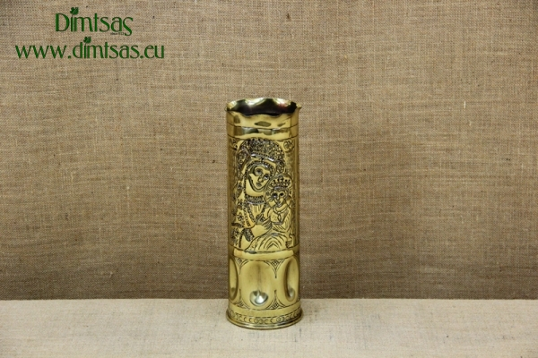 Trench Art Brass Shell Casing Engraved Leaves Size No4
