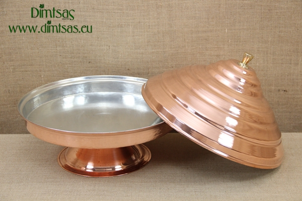 Copper Serving Platter with Lid No2