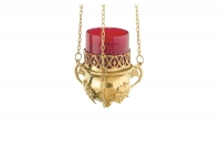Brass Hanging Vigil Lamp Sixth Depiction