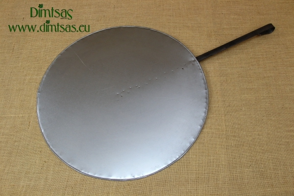 Round Metal Griddle No55 with Long Handle