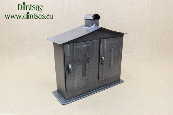 Double Cemetery Candle Box Wrought Grey