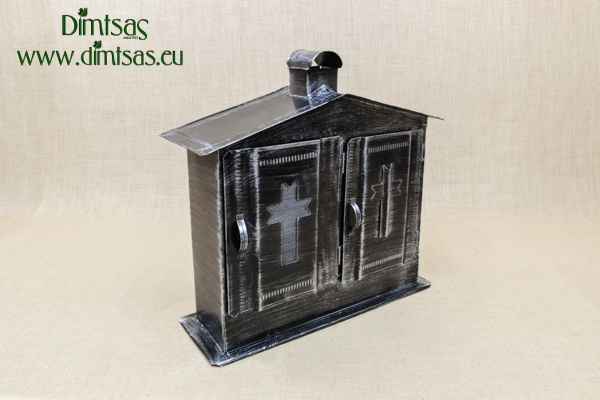 Double Cemetery Candle Box Inox