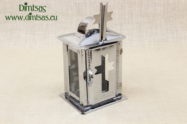 Small Oil Cemetery Candle Box with Glass Inox