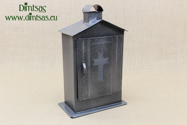 Big Cemetery Candle Box Wrought Grey