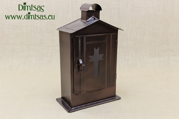 Big Cemetery Candle Box Wrought Brown