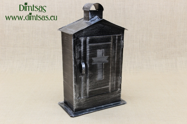 Big Cemetery Candle Box Patina Silver