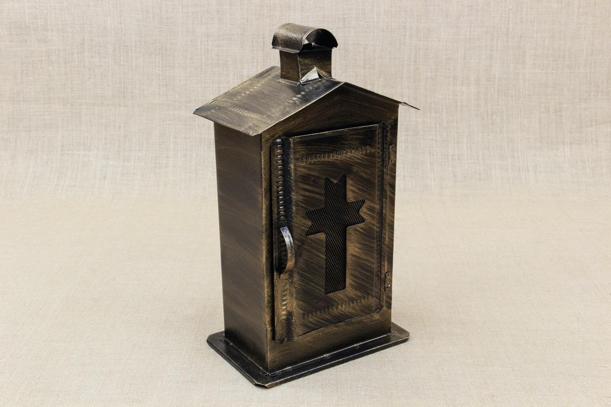Small Cemetery Candle Box Inox