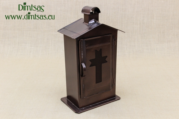 Small Cemetery Candle Box Wrought Brown