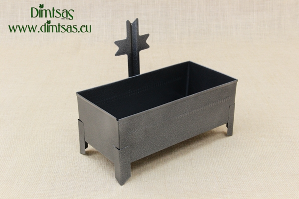 Cemetery Candle Holder for Sand or Water Wrought Grey