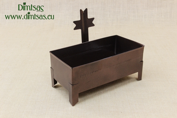 Cemetery Candle Holder for Sand or Water Square Inox