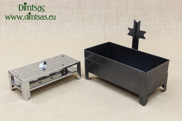 Cemetery Candle Holder for Sand or Water with Perforated Base Wrought Grey