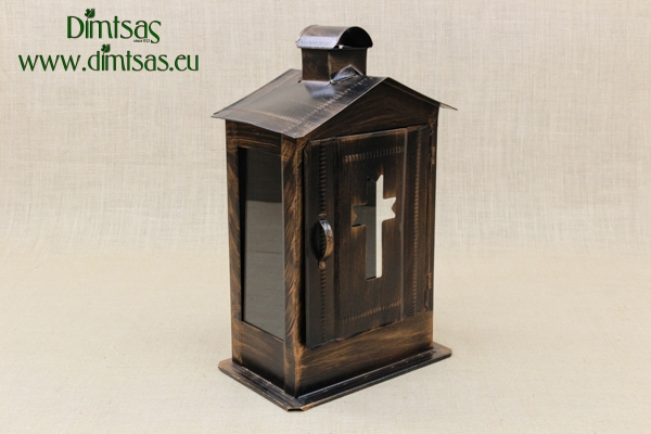 Big Cemetery Candle Box with Glass Patina Copper