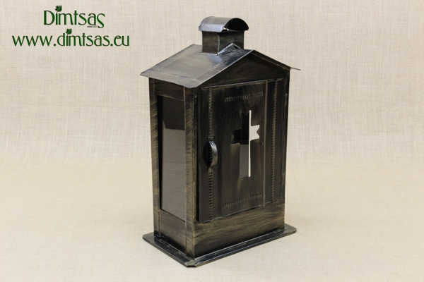 Big Cemetery Candle Box with Glass Patina Bronze