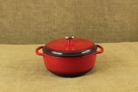 Enameled Cast Iron Dutch Oven - Casserole 4.3 lit Red First Depiction