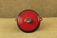 Enameled Cast Iron Dutch Oven - Casserole 4.3 lit Red Second Depiction