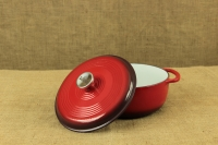 Enameled Cast Iron Dutch Oven - Casserole 4.3 lit Red Third Depiction