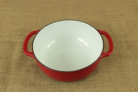 Enameled Cast Iron Dutch Oven - Casserole 4.3 lit Red Fourth Depiction