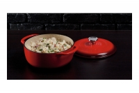 Enameled Cast Iron Dutch Oven - Casserole 4.3 lit Red Sixth Depiction
