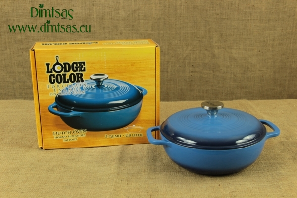 Enameled Cast Iron Dutch Oven - Casserole 2.8 lit Blue
